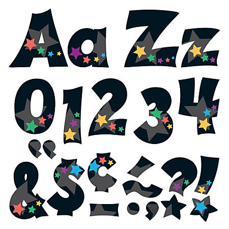 "TREND Ready Letters®, Friendly Combo, 4"", Stargazer, Pre-K - Grade 12, Pack Of 225"