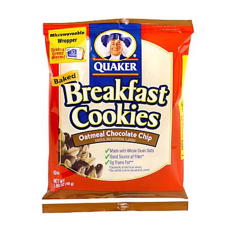 Quaker Breakfast Cookies, Chocolate Chip, Box Of 50