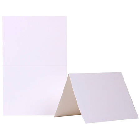 "JAM Paper® Blank Fold-Over Cards, Panel Border, 4 3/8"" x 5 7/16"", White, Pack Of 100"