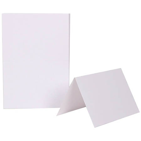 "JAM Paper® Note Cards, Fold-Over, 4 5/8"" x 6 1/4"", White, Pack Of 25"