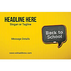 Adhesive Sign Back To School Horizontal