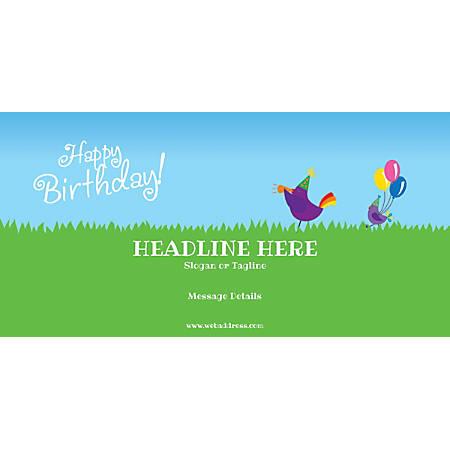 Custom Horizontal Banner, Birthday Birds