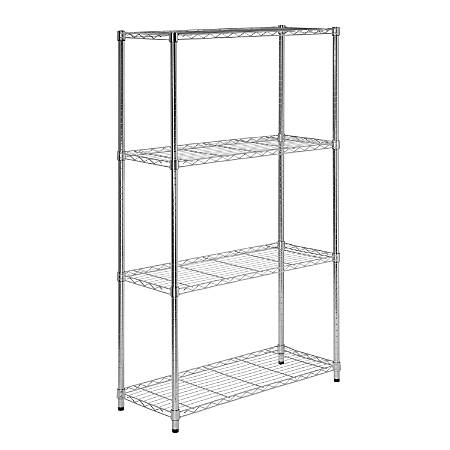 Honey-Can-Do Urban Steel Adjustable NSF Shelving Unit, 4-Tiers, Chrome