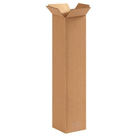 """Office Depot® Brand Corrugated Box 4"""" x 4"""" x 16"""", Bundle of 25"""