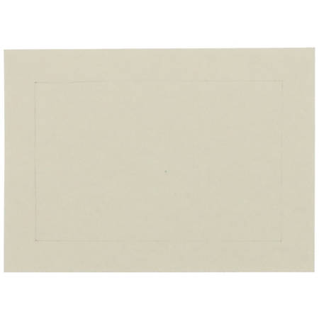 "JAM Paper® Blank Cards, 3 1/2"" x 4 7/8"", With Panel Border, Ivory, Pack Of 100"