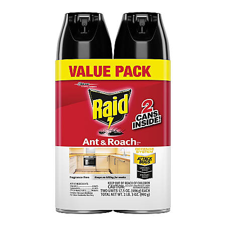 Raid Ant Roach Spray Outdoor Fresh Scent 17 5 Oz Pack