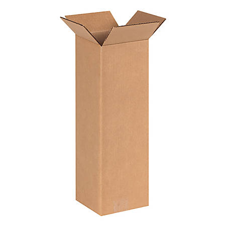 """Office Depot® Brand Tall Corrugated Boxes 6"""" x 6"""" x 20"""", Bundle of 25"""