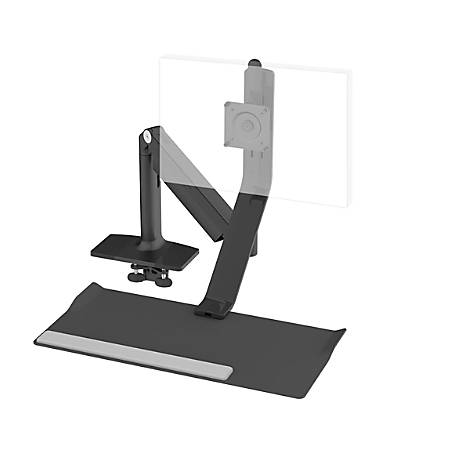 Humanscale® QuickStand Lite For Light Monitor, Single Screen Up To 11 Lb, Black