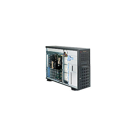 Supermicro SuperServer 7046T-6F Barebone System - 4U Tower - Intel 5520 Chipset - Socket B LGA-1366 - Black - 192 GB DDR3 SDRAM DDR3-1333/PC3-10600 Maximum RAM Support - Serial ATA/300, Serial Attached SCSI (SAS) RAID Supported Controller