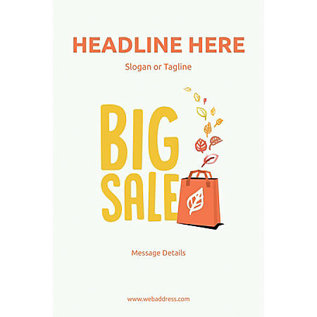 Custom Poster, Big Sale Bag, Vertical