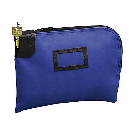 "PM SecurIT Night Deposit Bag, 9"" x 12"", Cobalt Blue"