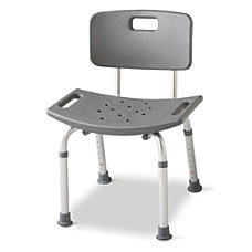Guardian Aluminum Bath Bench With Back