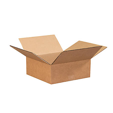 """Office Depot® Brand Corrugated Boxes 8"""" x 8"""" x 3"""", Bundle of 25"""