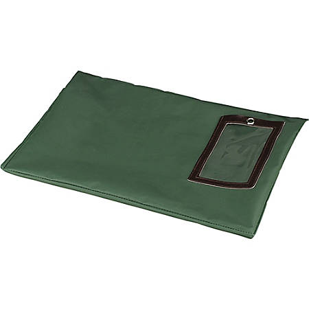 "PM SecurIT Reusable Flat Transit Bags, 14"" x 18"", Dark Green"