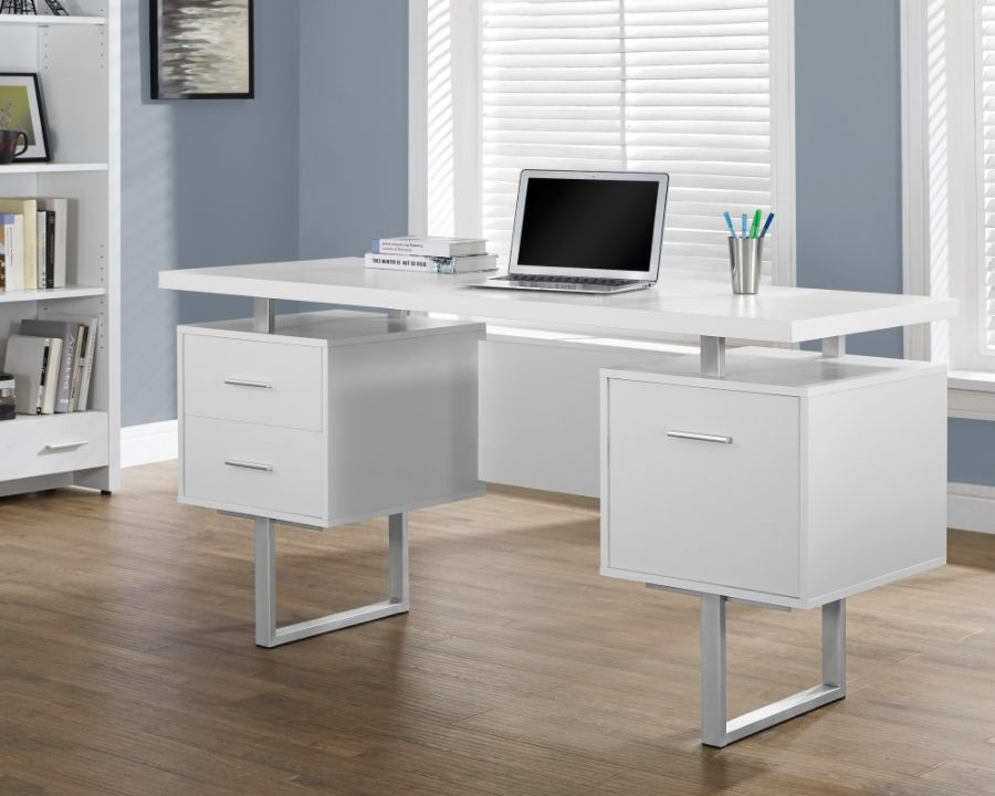 Monarch Retro Style Computer Desk White by Office Depot OfficeMax