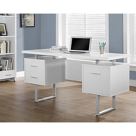 in storage fashion furniture high uk desks white daniele with computer gloss desk