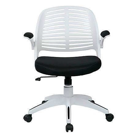 Ave Six Tyler Polyester Mid-Back Office Chair, Black/White