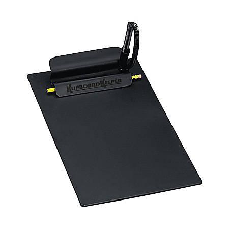 """PM Company® Klipboard Keeper®, 8 1/2 x 11"""", Black"""