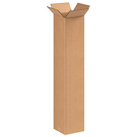 """Office Depot® Brand Tall Corrugated Boxes 8"""" x 8"""" x 42"""", Bundle of 20"""