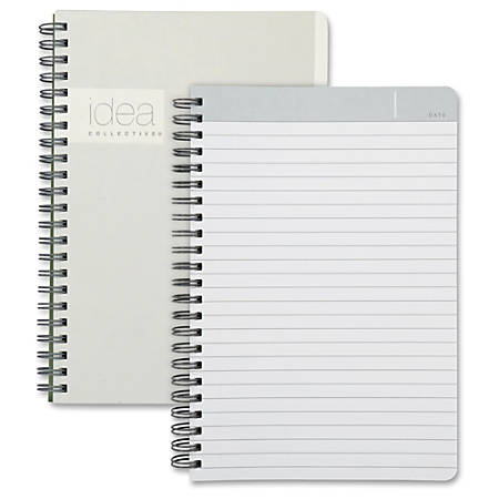 """TOPS Idea Collective Professional Notebook - Twin Wirebound - College Ruled - 5"""" x 8"""" - White Cover - 1Each"""