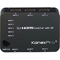 KanexPro 5x1 HDMI Switcher with 4K