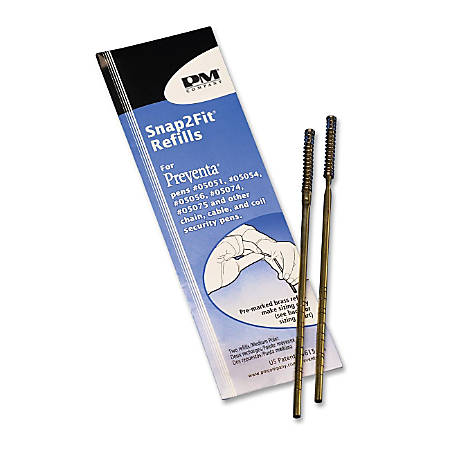 PM Aluminum Counter Pen Refill - Medium Point - Blue Ink - Acid-free, Water Resistant - 2 / Pack