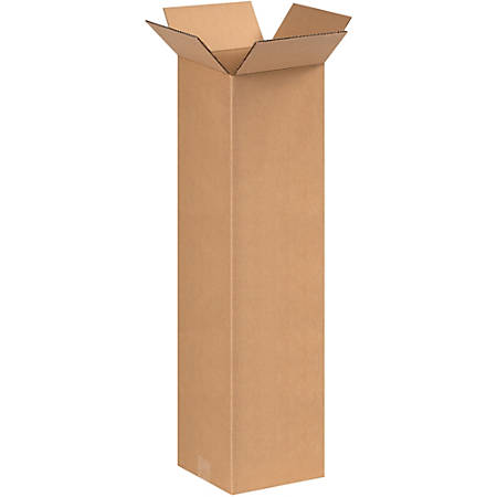 "B O X Packaging Corrugated Shipping Boxes, 9"" x 9"" x 30"", Brown, Pack Of 25"