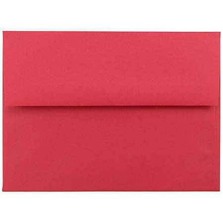 "JAM Paper® Booklet Invitation Envelopes (Recycled), A6, 4 3/4"" x 6 1/2"", 30% Recycled, Red, Pack Of 25"