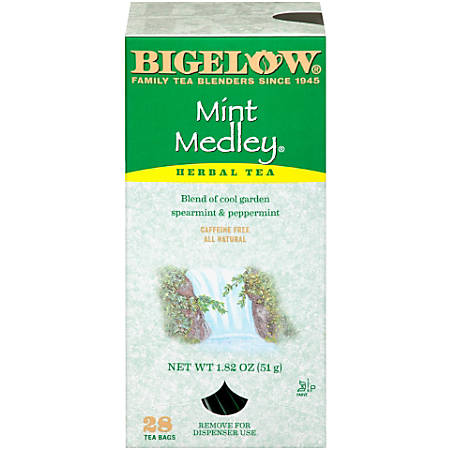 Bigelow Mint Medley® Tea Bags, Box Of 28