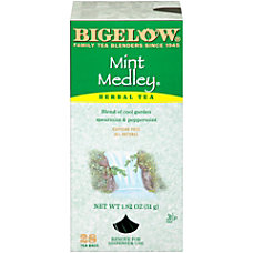 Bigelow Mint Medley Tea Bags Box