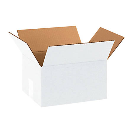 """Office Depot® Brand White Corrugated Boxes 10"""" x 8"""" x 6"""", Bundle of 25"""