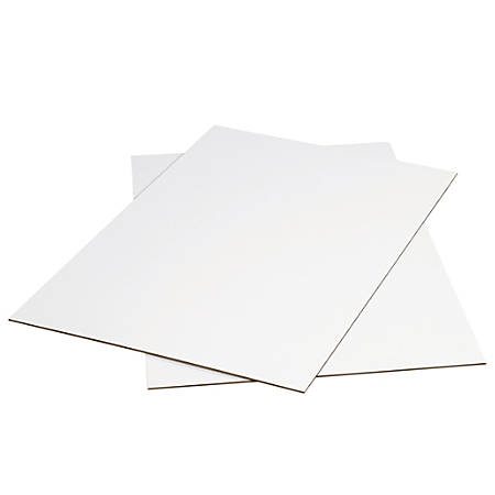 """Office Depot® Brand Corrugated Sheets, 48"""" x 48"""", White, Pack Of 5"""