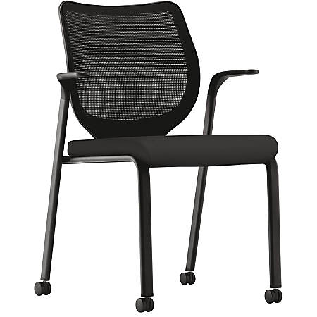 hon nucleus series multipurpose stacking chair black by office depot