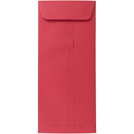 """JAM Paper® Policy Envelopes, #10, 4 1/8"""" x 9 1/2"""", 30% Recycled, Red, Pack Of 25"""