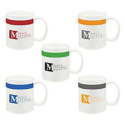 Color Stripe Ceramic Mug 11 Oz