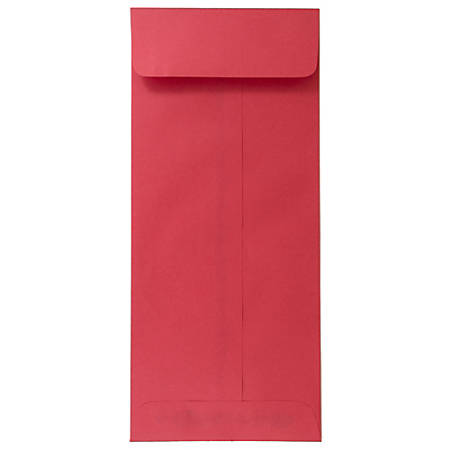 """JAM Paper® Open-End Policy Envelopes, #12, 4 3/4"""" x 11"""", 30% Recycled, Red, Pack Of 25"""