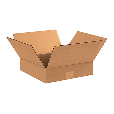 "Office Depot® Brand Flat Corrugated Boxes 11"" x 11"" x 3"", Bundle of 25"
