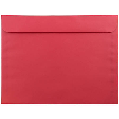 "JAM Paper® Booklet Envelopes With Gummed Closure, 9"" x 12"", 30% Recycled, Red, Pack Of 25"