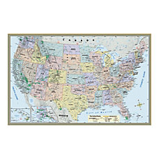 QuickStudy Detailed Topography Map United States