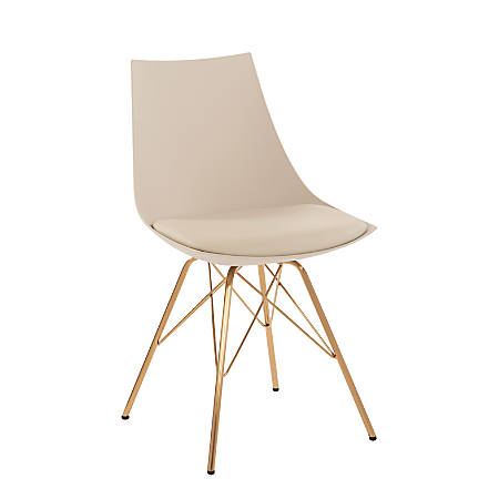 Ave Six Oakley Chair, Cream/Gold Chrome