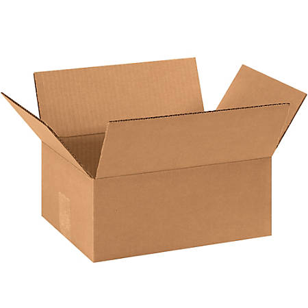 11 1/4in(L) x 8 3/4in(W) x 4in(D) - Corrugated Shipping Boxes