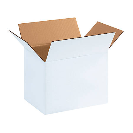 "Office Depot® Brand White Corrugated Boxes 11 1/4"" x 8 3/4"" x 12"", Bundle of 25"