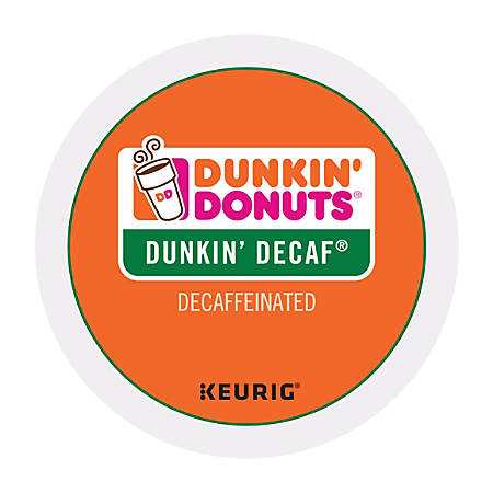 Dunkin' Donuts® Coffee Single-Serve K-Cup®, Decaf, 0.4 Oz, Carton Of 24