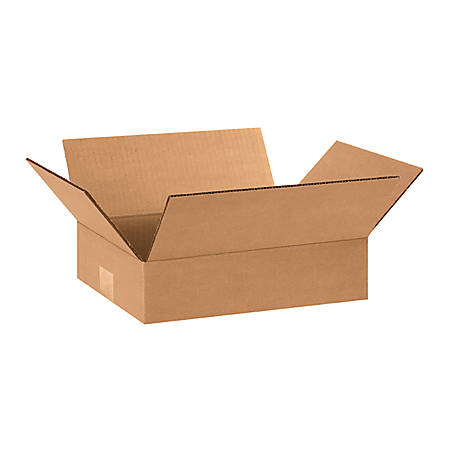 "Office Depot® Brand Flat Corrugated Boxes 12"" x 8"" x 3"", Bundle of 25"