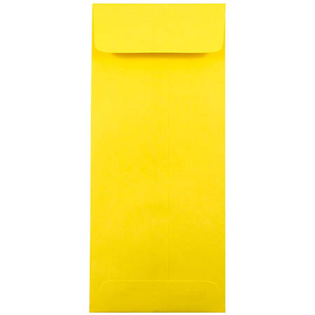 """JAM Paper® Open-End Policy Envelopes, #11, 4 1/2"""" x 10 3/8"""", 30% Recycled, Yellow, Pack Of 25"""