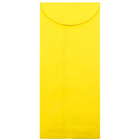 "JAM Paper® Open-End Policy Envelopes, #12, 4 3/4"" x 11"", 30% Recycled, Yellow, Pack Of 25"