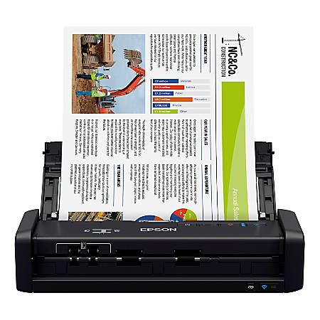 Epson® WorkForce® ES-300W Wireless Portable Duplex Document Scanner With ADF