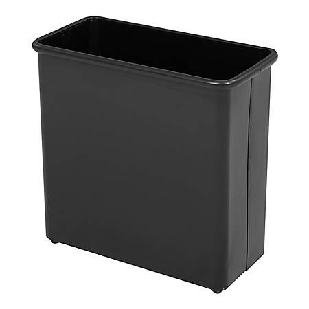 Safco® Rectangular Wastebasket, 6.88 Gallons, Black