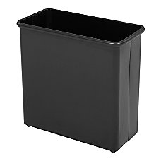 Safco Rectangular Wastebasket 688 Gallons Black