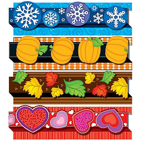 "Carson-Dellosa Pop-Its™ Borders Sets — Seasonal, 3""H x 36""L, Pack Of 4"